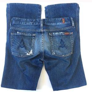 Lt Distressed A Pocket Stretch Slim Cut Jeans
